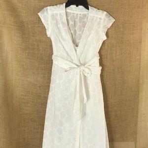 Banana Republic White Eyelet Dress - 0